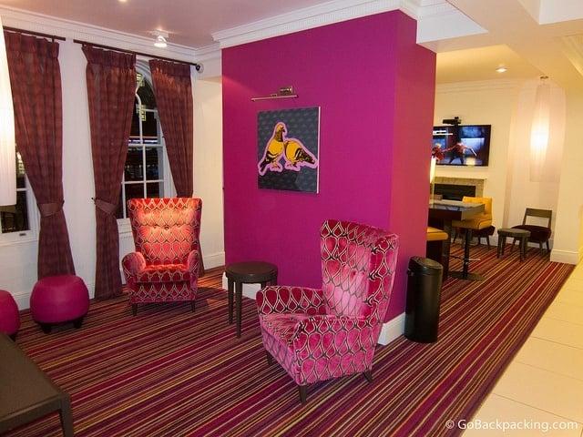 First floor sitting room at Safestay Hostel