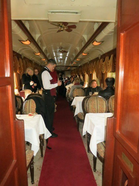This is the dining car. The wait staff were excellent and super attentive.