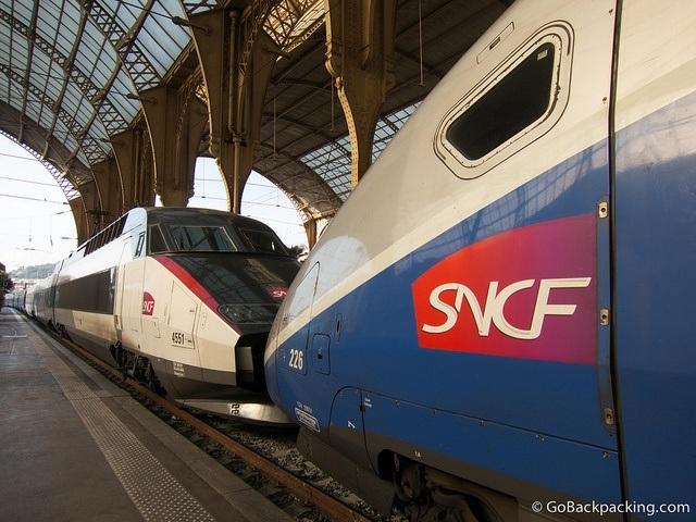 TGV trains in France
