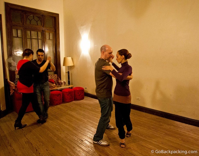 Small group lesson with my tango teacher (far right)