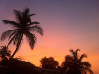 Sunset over Banjul, in The Gambia