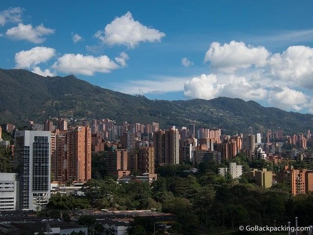 The Poblado neighborhood in Medellin
