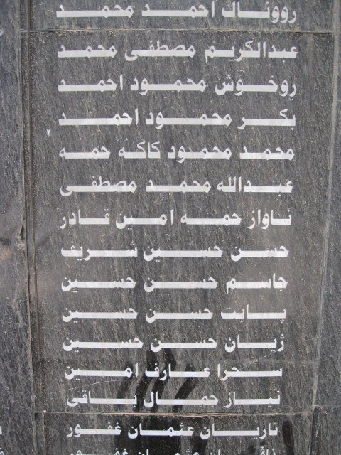 Long list of those who've died in the chemical attacks
