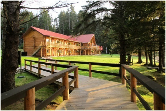 The Queen Charlotte Lodge: an angler's oasis.