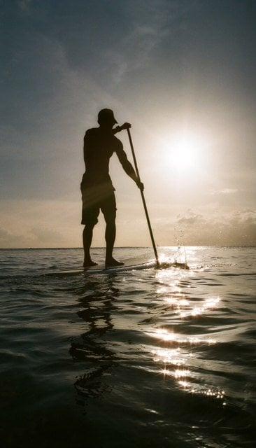 Tiki Man SUP sunset