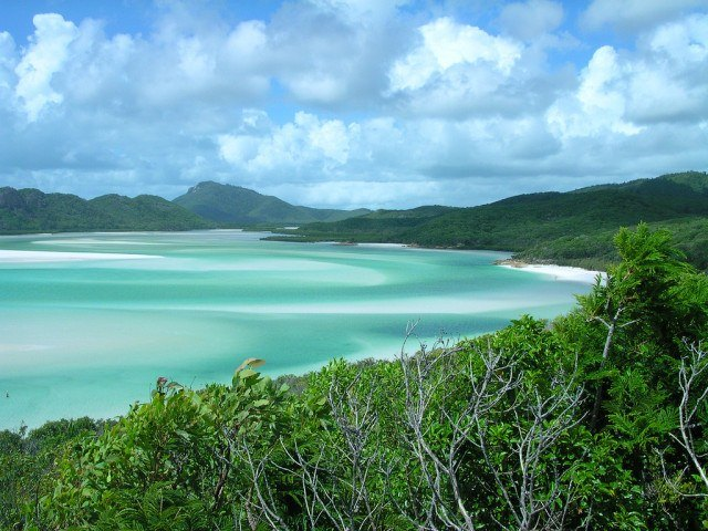 Blue water and beach in the Whitsunday Islands (photo: Brewbooks)