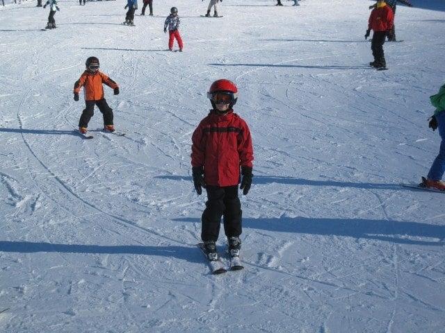 Learning To Ski (photo: Merav Benaia)