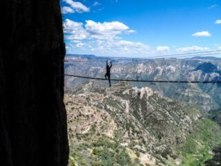 Rappelling into Copper Canyon