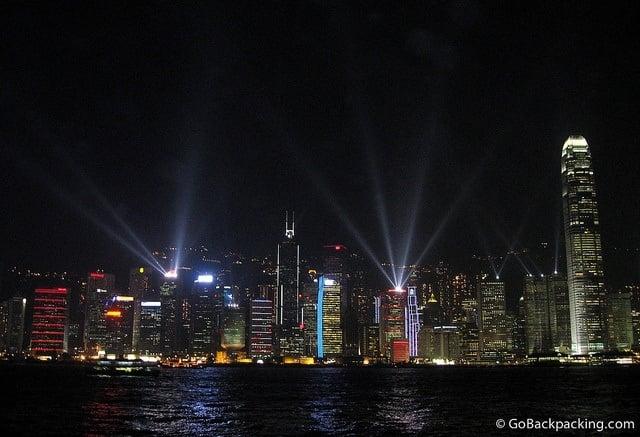 Laser Light Show in Hong Kong
