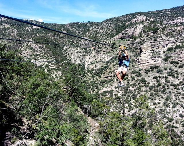 Tirolesa in Copper Canyon