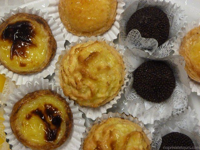 Assortment of pastries at Colombo Cafe in Rio de Janeiro