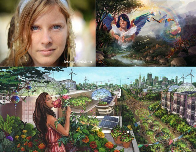 Econaut and visionary artist Jessica Perlstein's vision of a new world.