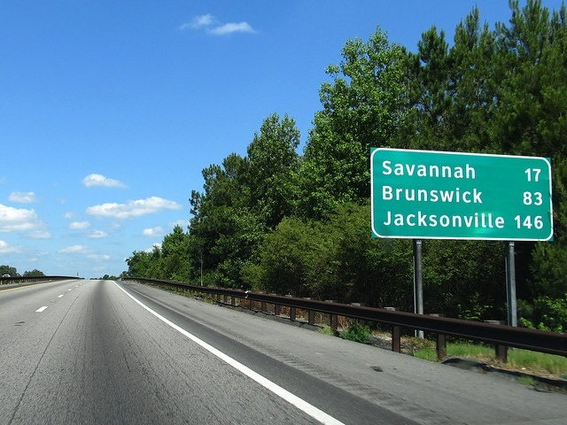 Road Sign on I-95 South