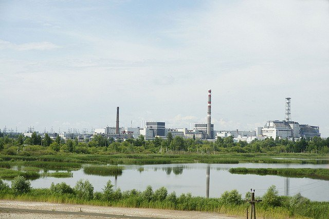 Chernobyl NPP Units 1 to 4 and the Substation Complex