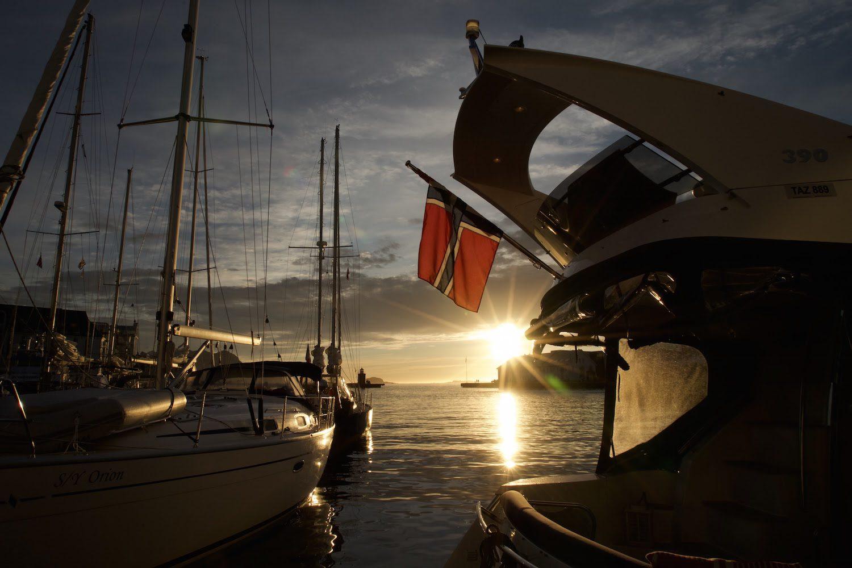 Sunset in Alesund Norway
