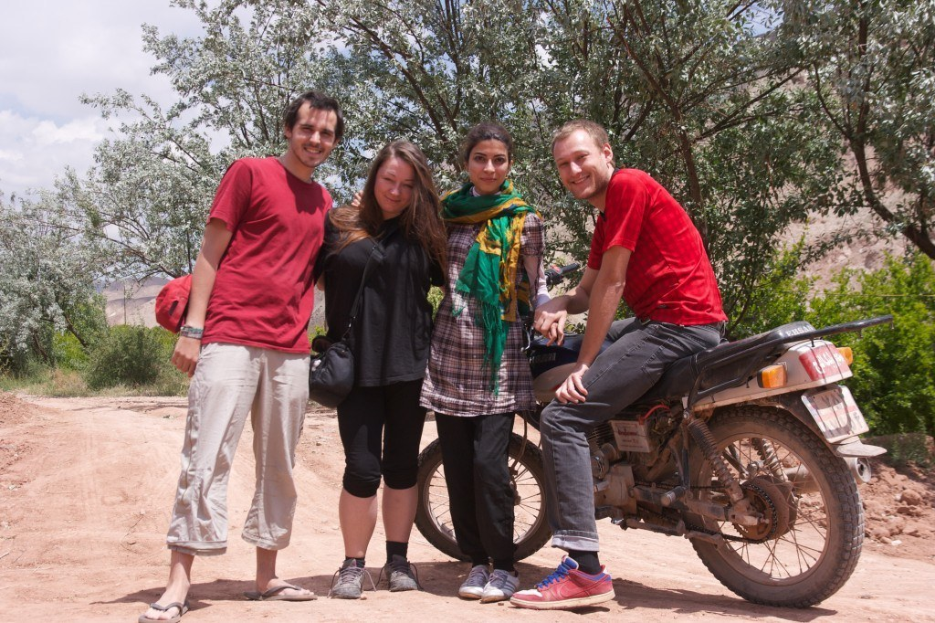 Quentin, Aga, Atefe and I