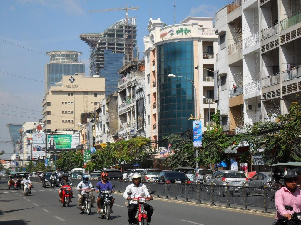 Monivong Boulevard which runs through the centre of Phnom Penh. Photo from Wikipedia