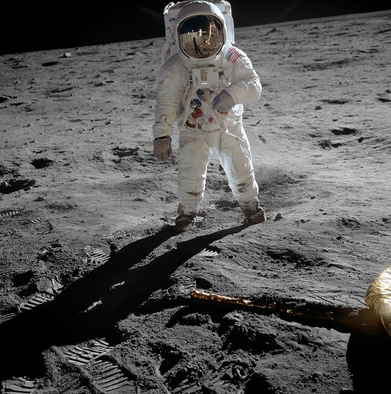 Tax dollars = Crowdfunding. Buzz on the Moon. (photo: Wiki Commons)
