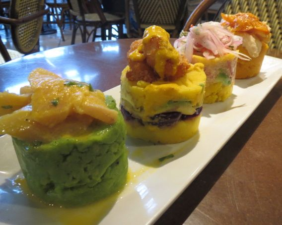 I had never eaten such a wide variety of causa with one dish.