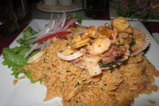 It's not in the Top 5, but I bet arroz con mariscos is a favorite for a lot of people.