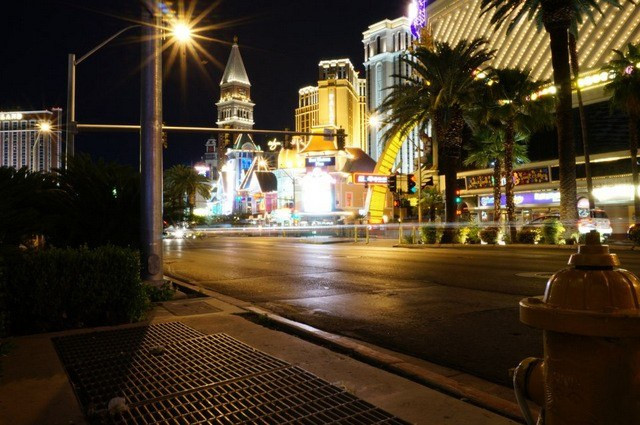 The lights of the Las Vegas Strip.