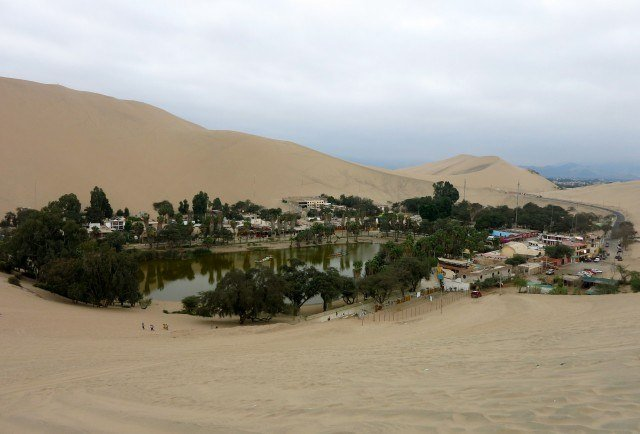 Huacachina was built around a small oasis.