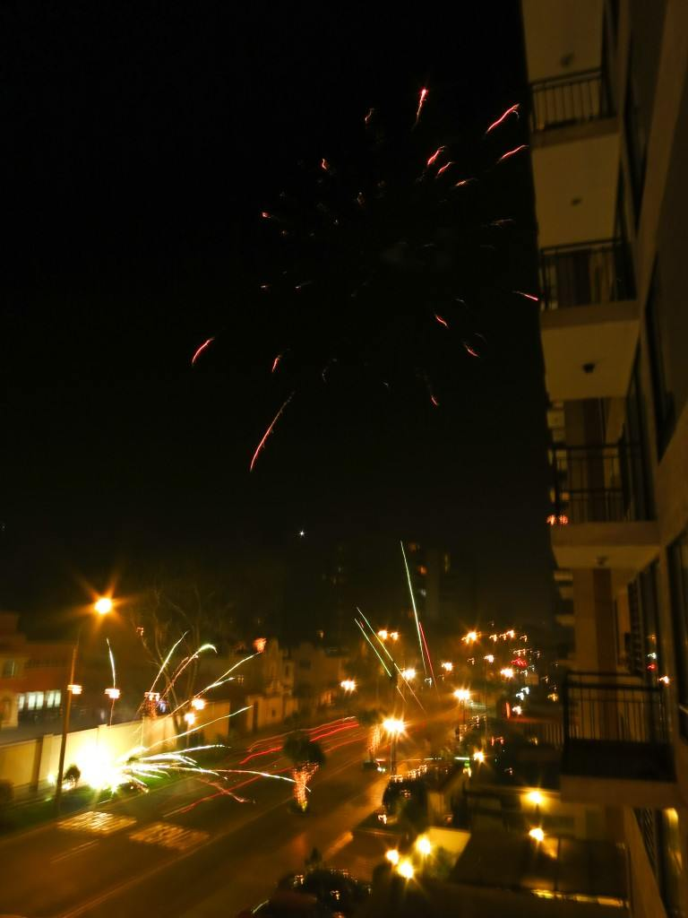 Fireworks on the streets of Lima