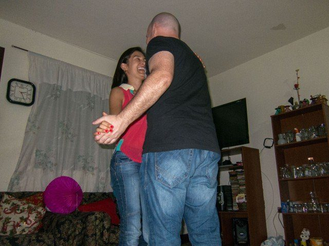 Dancing with my friend Lina into the wee hours