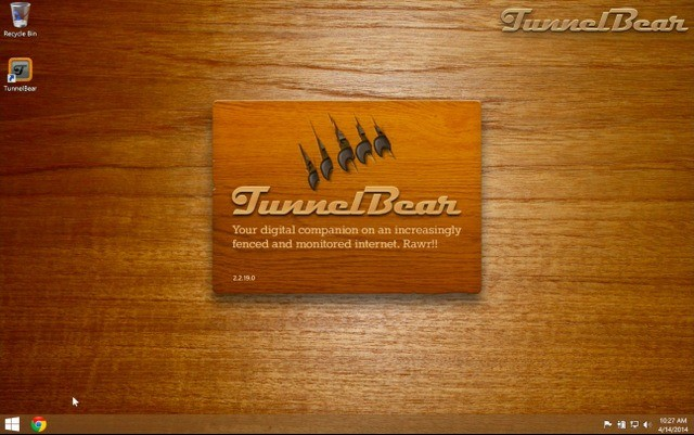 TunnelBear VPN program for PC, Mac, Android, and iOS.