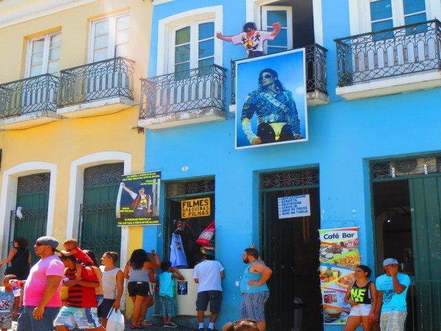 One Salvador business has a tribute to Michael Jackson, whose music video, They Don't Care About Us, included scenes from the Pelourinho.