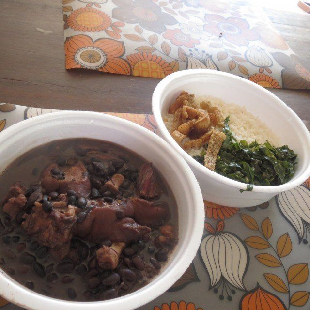 Eating feijoada is like eating southern comfort food in the United States: good and filling.