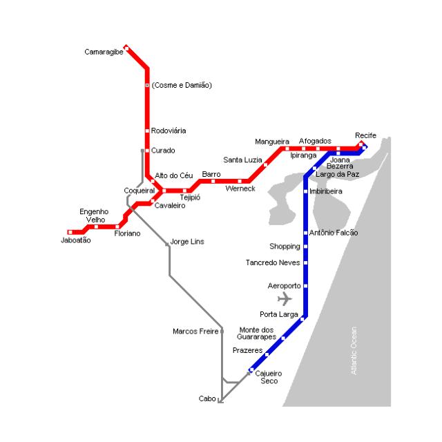 Recife Metro map