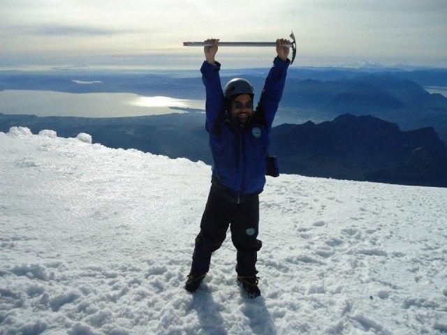I felt like I was on top of the world.