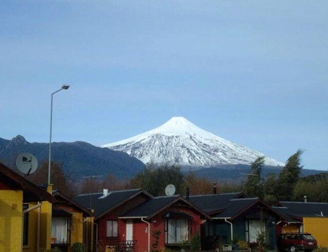 A view of Volcán Villarrica from Pucón