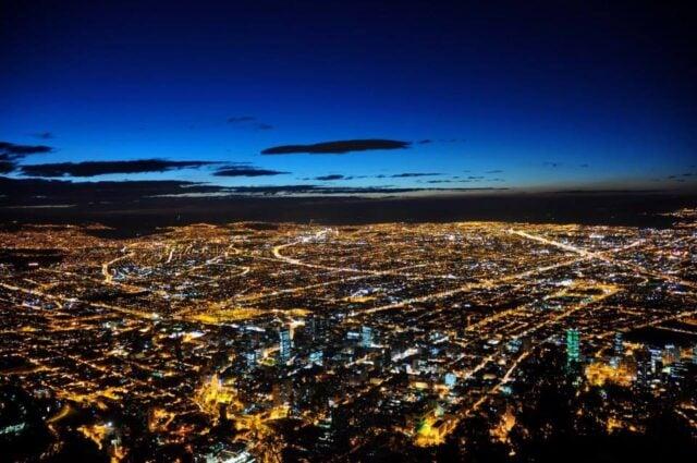 Bogotá at dusk