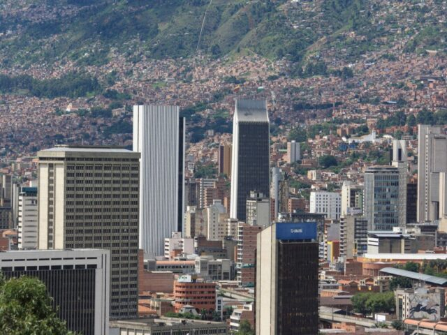 A view of downtown Medellín