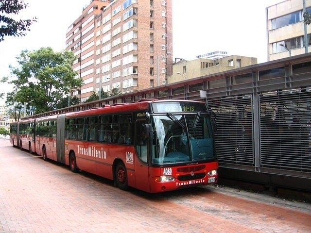 The Transmilenio in Bogotá