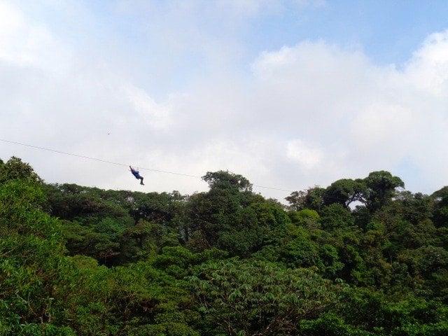 Ziplining in Monteverde Cloud Forest