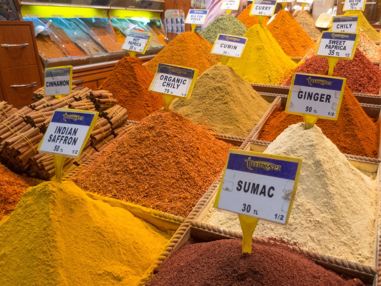 Fresh spices at an Istanbul market.
