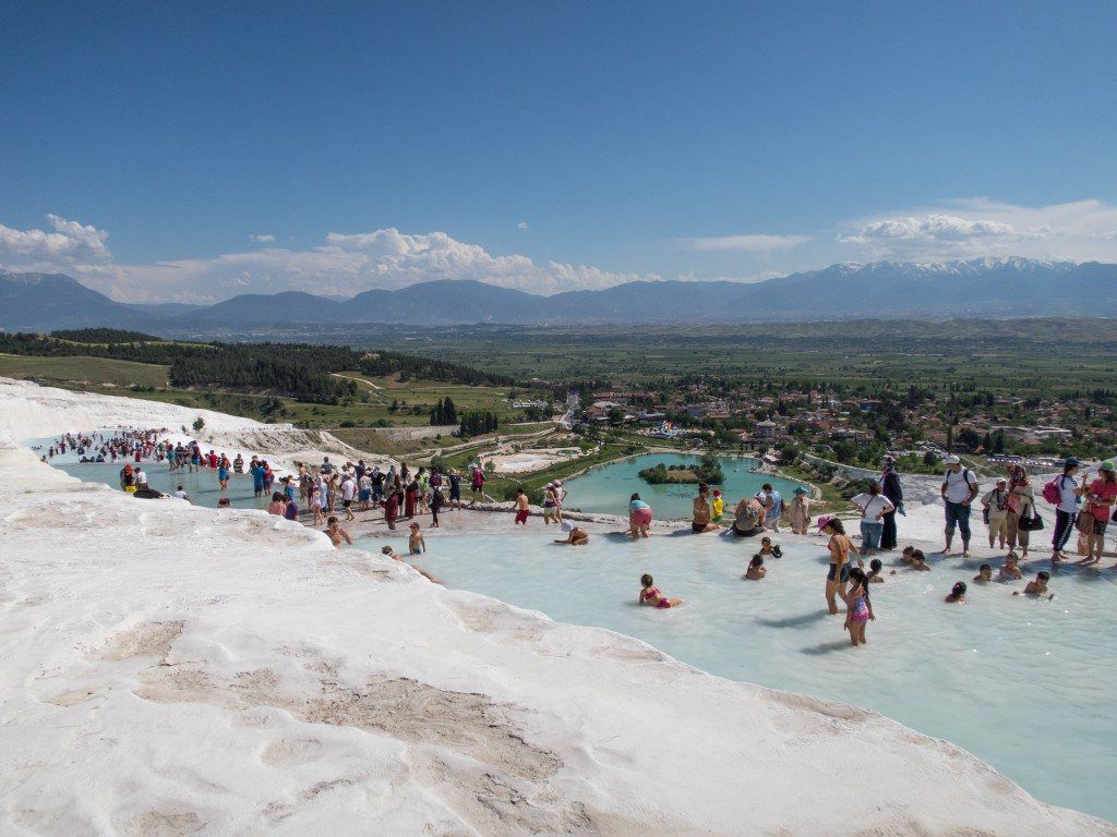 Tourists at Pamukkale