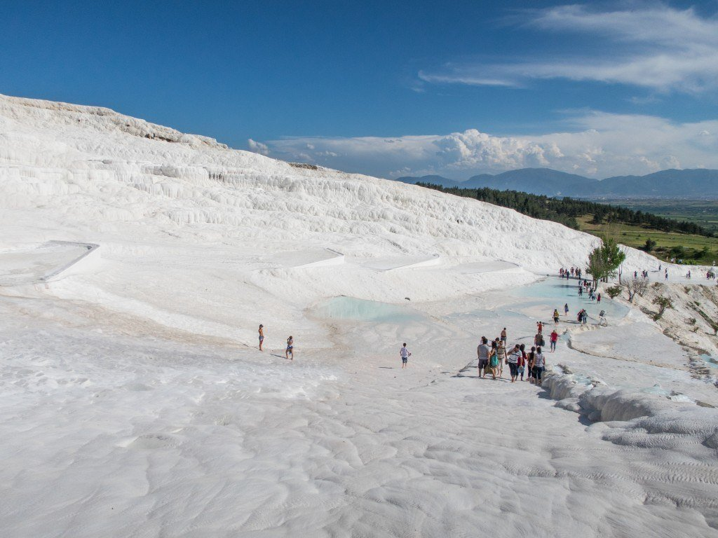 Lower half of Pamukkale