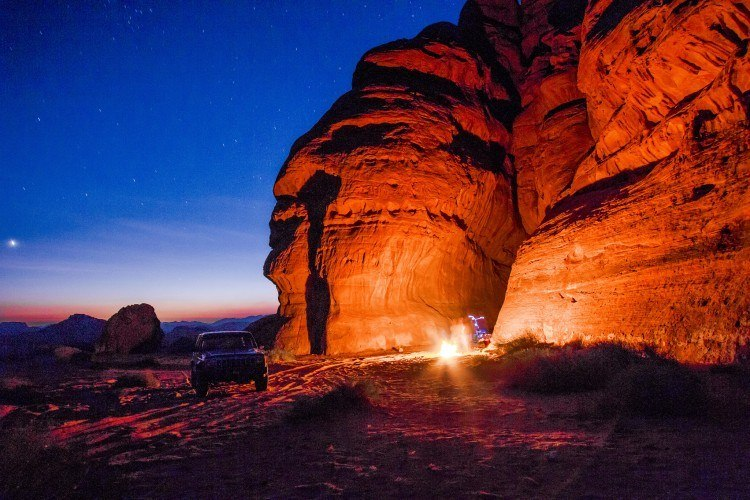 Camping in Wadi Rum (photo: Lawrence Murray)