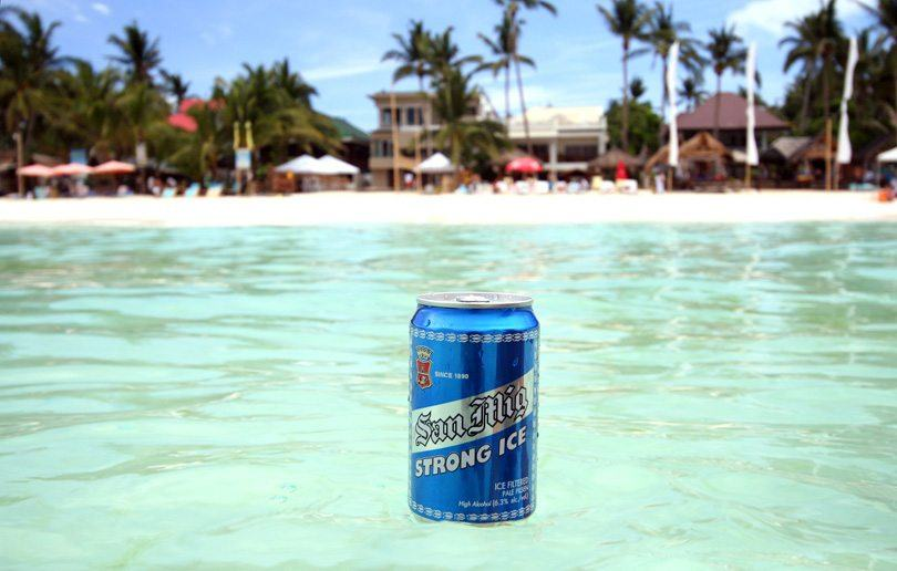 This picture shows why drinking beer in the Philippines is just better. Image source.