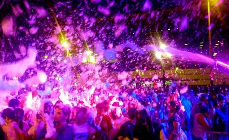 An epic foam party at Barcelona Pride.