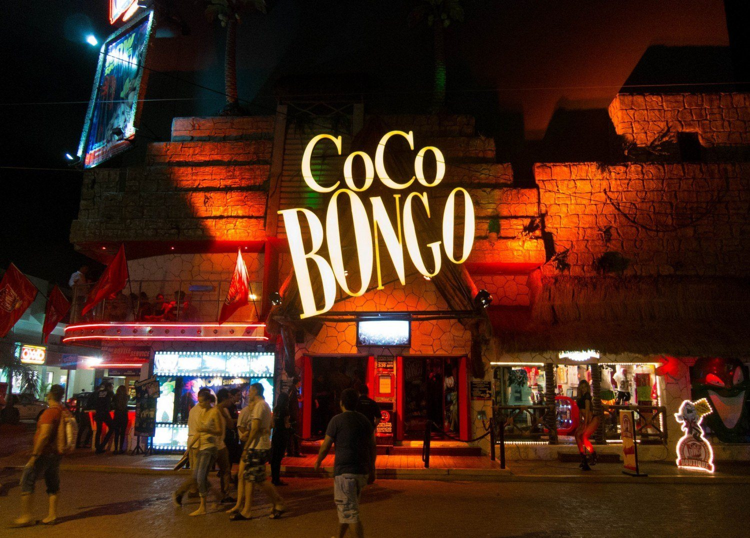 Coco Bongo is a famous nightclub found in both Playa del Carmen and Cancun (photo: Dave Lee)