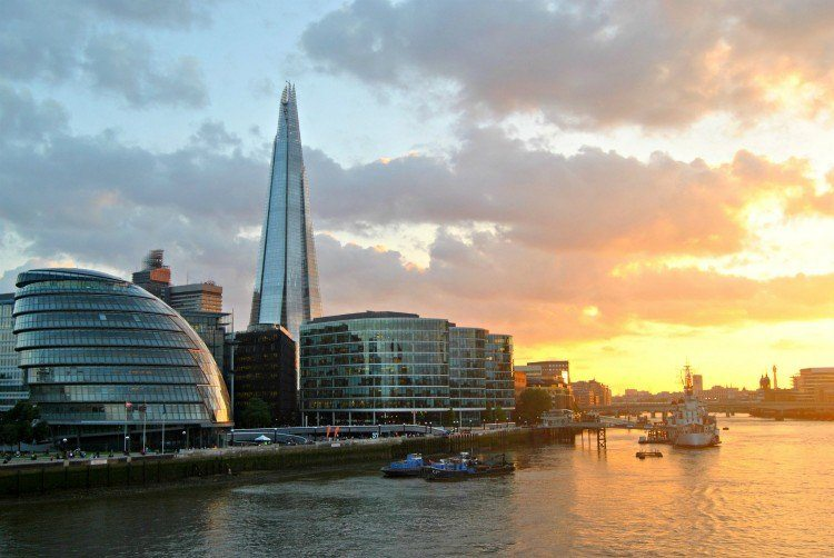 The Shard on London's skyline. Image source.