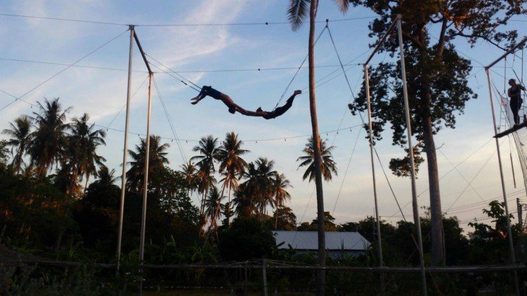 flying trapeze, unique things to do in Koh Tao