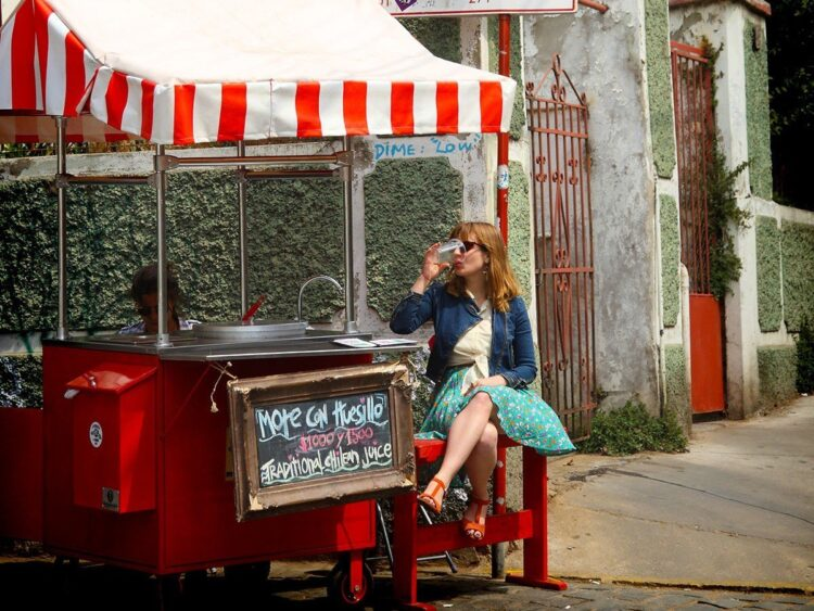 Chilean juice stand