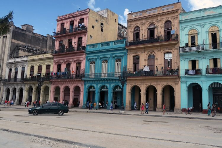 Colorful Cuban buildings