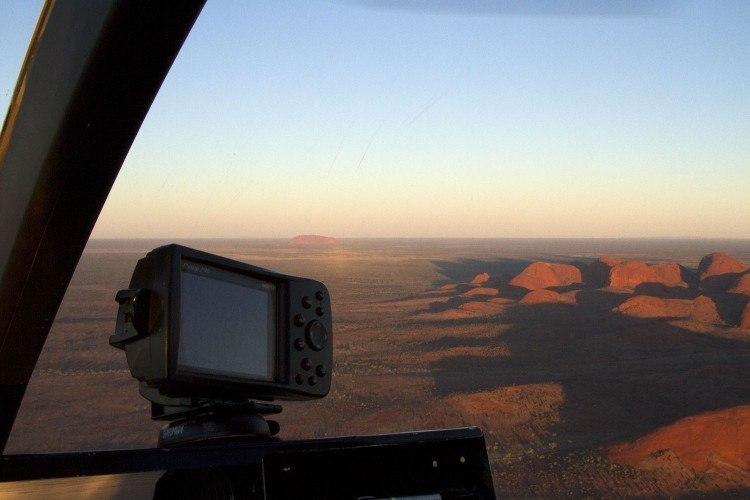 Uluru from the sky